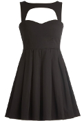 Black Sweetheart Neck Fit-And-Flare LBD Skater Dress