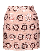 Pink Sequin Embellished Short Party Skirt