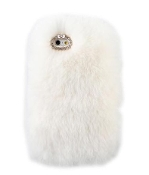 White Faux Fur iPhone Cell Phone Cover Case