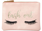Eyelash Graphic Print Cosmetic Bag Lash Design Makeup Tote