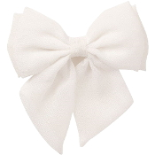 Women's White Oversized Bow Scrunchie For Hair